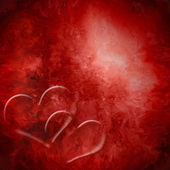 Background two red hearts passion — Stock Photo