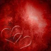 Paixão de fundo dois corações vermelhos — Foto Stock