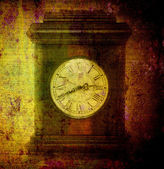 Old clock on grunge — Stockfoto