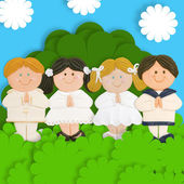 Lovely first communion card — Stock Photo