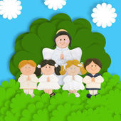 First communion thank you card — Stock Photo