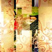 Album background smiling elf — Stock Photo