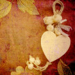 Stock Photo: Heart card, vintage background
