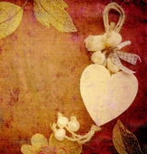 Heart card, vintage background — Stock Photo