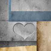 Love colored paper background — Stock Photo