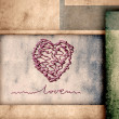 Greeting card, I love you - Stock Photo