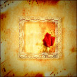 Vintage card romantic music — Stockfoto