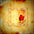 Vintage card romantic music - Stock Photo
