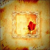 Vintage card romantic music — Stock Photo