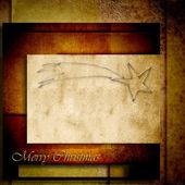 Snowman Christmas postal card — Foto de Stock