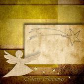 Schneemann-weihnachten-postkarte — Stockfoto