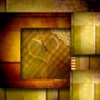 Love card background with heart — 图库照片