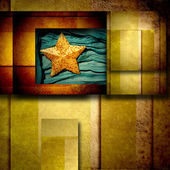 Gold star background card — Stock Photo