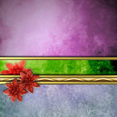 Abstract Christmas poinsettias background — Stock Photo