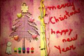 Cute christmas card with message — Photo