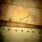 Grunge heart card — Stockfoto