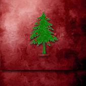 Vánoční přání s prostorem pro psaní — Stock fotografie