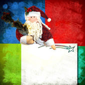 Christmas card Santa Claus and blank space for writing — Stock Photo