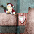 Santa Claus greeting Christmas card — Stock Photo