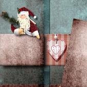 Papai Noel cartão de Natal — Fotografia Stock