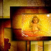 Christmas card Baby Jesus — Stock Photo