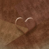 Brown background romantic card,copy space — Stock Photo