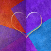 Colorful background with heart, copy space card — Foto de Stock