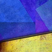 Abstract geometric blue and yelow background colorful color — Stock Photo