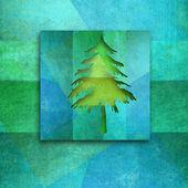 Christmas wenskaart, elegante fir tree — Stockfoto