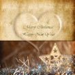 Lovely christmas greeting card — Stock Photo
