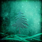 Christmas Tree greeting background — Stock Photo