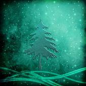 Julgran hälsning bakgrund — Stockfoto