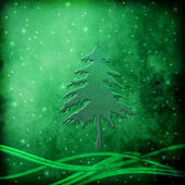 Fir Christmas at Night, Greeting Card — Foto de Stock