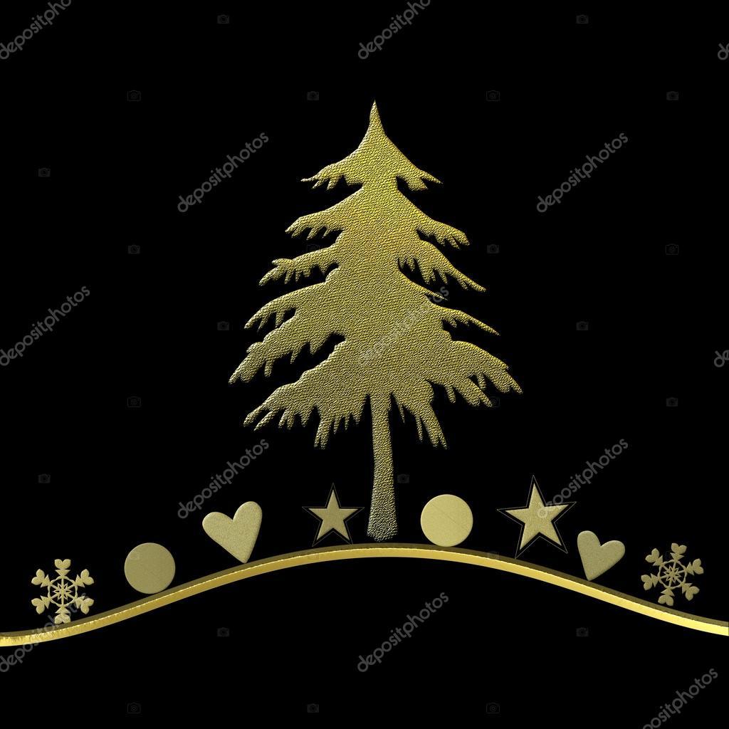 Tarjeta de navidad elegante en dorado y negro fotos de - Tarjetas de navidad elegantes ...