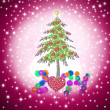 Stock Photo: Lovely child Christmas greeting card 2014