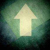 Direction arrow sign up grunge background — Stock Photo