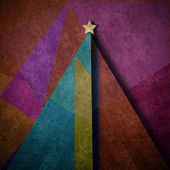 Christmas tree abstract background greeting card — Stock Photo