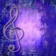 Treble clef music — Stock Photo