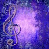 Treble clef music — Stock Photo