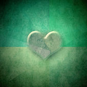 Green background romantic card,copy space — Stock Photo