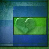 Background heart romantic card,copy space — 图库照片
