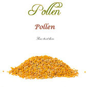 Pile of bee pollen isolated  — Stock Photo