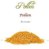 Pile of bee pollen isolated  — Stock Photo