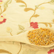 Stock Photo: Bee pollen in wooden spoon