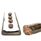 Black pudding ration isolated — Stock Photo