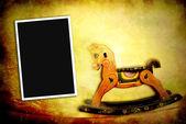 Juguetes antiguos, caballito — Foto de Stock