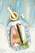 Fresh mackerel — ストック写真