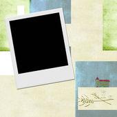 インスタント写真フレームの聖体拝領の招待状の背景 — ストック写真