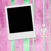 First Holy Communion photo instant frame  girl — Foto de Stock