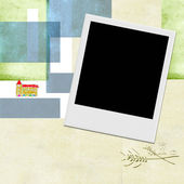 Eerste communie foto instant frame uitnodiging — Stockfoto